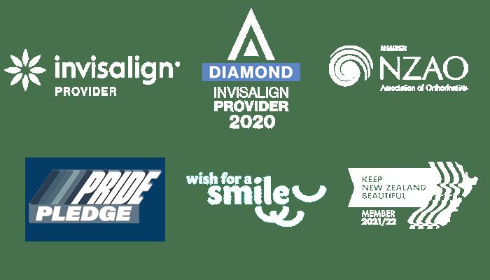 Diamond Invisalign provider, NZAO, Pride pledge, Wish for a smile, Keep New Zealand Beautiful